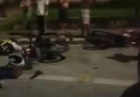 Colisão frontal entre motos deixa dois feridos entre Mangabeira e Valentina
