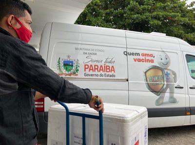 Distribuição de vacinas contra Covid-19 para os municípios.