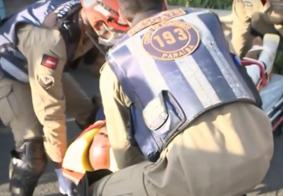 Bombeiros resgatam ciclista atingido por reboque nas Três Lagoas; veja