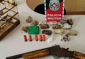 PM apreende arma e drogas em ação de combate ao tráfico no Litoral Sul da Paraíba