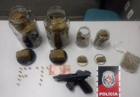 Suspeito de tráfico é preso com drogas e arma de fogo em Campina Grande
