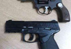 Trio é detido com revólver e simulacro de pistola na orla de João Pessoa