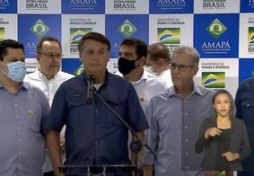 Bolsonaro diz que afetados por apagão no Amapá terão isenção na conta de luz