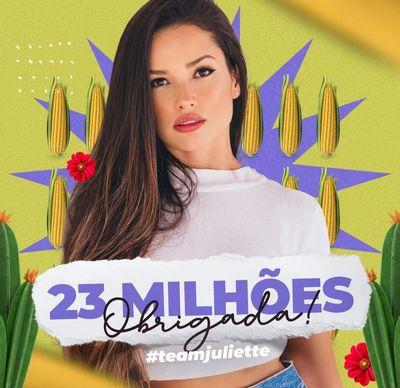 Juliette atinge 23 milhões de seguidores no Instagram - Portal T5