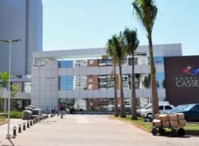 Hospital onde o bombeiro está internado