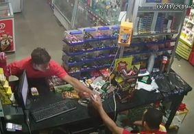 Câmeras registram assalto em posto de combustível em João Pessoa; veja o vídeo