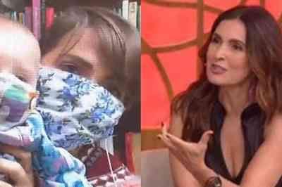 Letícia Colin mostra o filho de máscara e é corrigida por repórter em programa