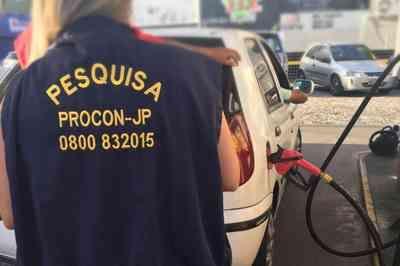 Gasolina pode ser encontrada por R$ 3,49 em João Pessoa, diz Proncon