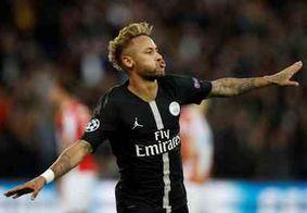 Neymar marca três vezes e PSG goleia time da Sérvia na Liga dos Campeões