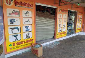 Gangue da marcha à ré ataca loja de ferramentas em João Pessoa