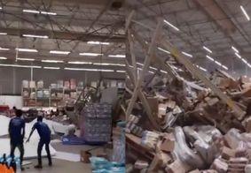 Vídeo: prateleiras de atacadista desabam sobre clientes e mobilizam bombeiros no Maranhão