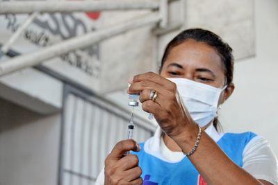 Campanha de vacinação contra Covid-19, em João Pessoa, na Paraíba