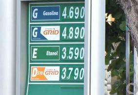 Preço cobrado por litro da gasolina assusta