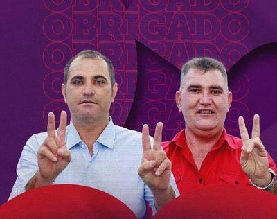 Prefeito Marcelo Jorge e vice, Edmarck Araújo.