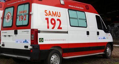 Vítima foi atendida por equipes do Samu