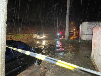 Local do homicídio em Gramame, na rua Agricultor Carlos Onofre Nóbrega