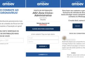 Site falso e golpe no WhatsApp prometem álcool em gel da Ambev