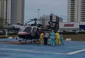 Gravemente ferido durante acidente no interior da PB, homem é socorrido por helicóptero Acauã
