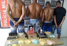 PM prende grupo suspeito de atuar no tráfico de drogas no Centro de João Pessoa