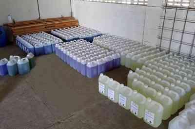 Detentos produzem materiais de higienização e desinfecção das penitenciárias