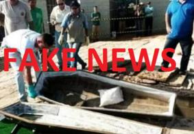 É FAKE NEWS foto e informação sobre caixões sendo enterrados vazios em Manaus
