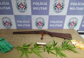 Polícia apreende arma, crack e pé de maconha em comunidade de João Pessoa