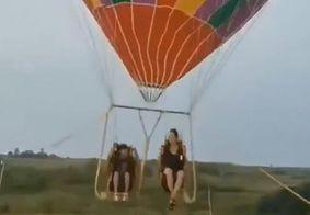 Mãe e filho morrem após balão se soltar, explodir e cair
