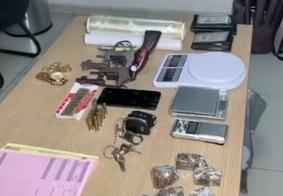 Material encontrado com os criminosos