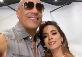 Após confirmar música em 'Velozes e Furiosos', Anitta posa com Vin Diesel