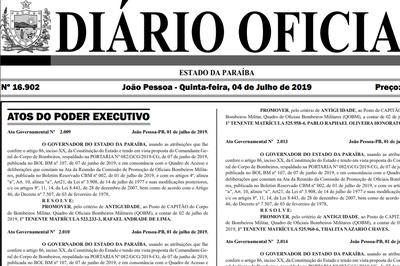 Diário Oficial publica promoção de oficiais do Corpo de Bombeiros