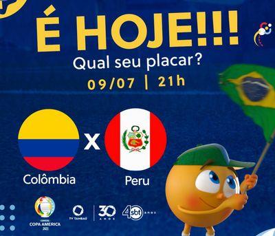 Colômbia x Peru, ao vivo e exclusivo na TV Tambaú/SBT