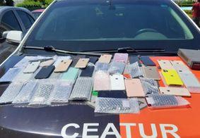 Após perseguição e troca de tiros, dupla é presa com 40 celulares roubados na PB