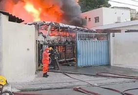 Local foi destruído pelas chamas