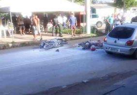 Colisão entre motos deixa homem ferido em João Pessoa