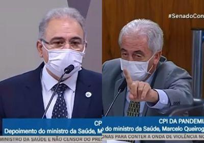 Marcelo Queiroga e Otto Alencar batem boca em CPI da Covid