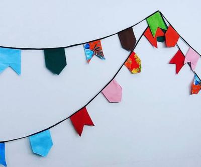 Bandeirinhas de São João podem deixar seu ambiente mais bonito