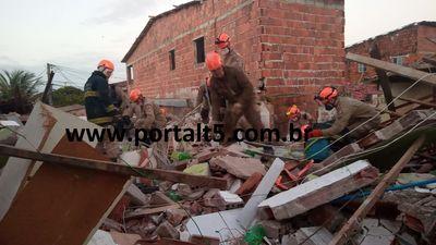 Explosão seguida de desabamento deixa dois mortos e três feridos em JP