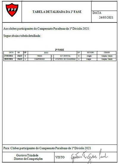 Anúncio das datas realizado pela FPF