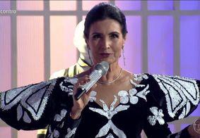 No 'Encontro', Fátima Bernardes se veste de Hebe Camargo e cita SBT; veja
