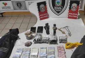 Suspeitos de assaltos a lojas e correspondente bancário são detidos na Paraíba