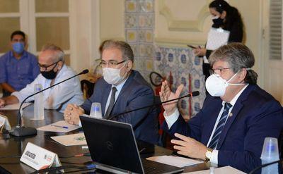Em encontro com ministro da Saúde, João pleiteia habilitação de leitos de UTI e vacinas para Paraíba