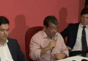 Amadeu não responde perguntas da imprensa e FPF diz não ter sido notificada sobre intervenção