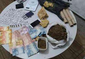 PM prende casal suspeito de gerenciar ponto de venda de drogas em Mamanguape, na PB