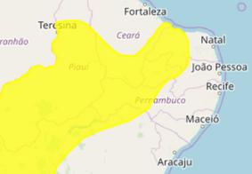 Quase 100 cidades da Paraíba recebem alerta de chuvas pelo Inmet
