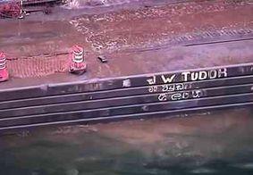 Quatro pessoas morrem em queda de veículo na Baía de Guanabara