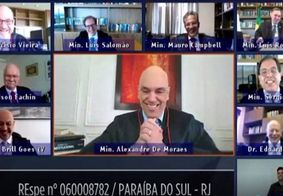 Cachorrinho do ministro Alexandre de Moraes interrompe sessão on-line do TSE; veja
