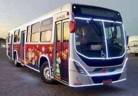 Ônibus com decoração natalina passam a integrar frota de João Pessoa nesta terça (10)
