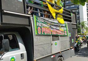 Protesto realizado por apoiadores de Bolsonaro