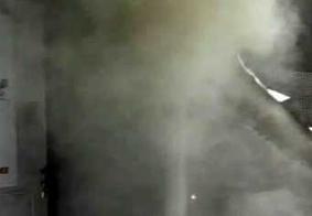 Fumaça em casa na cidade de Campina Grande. Imagem ilustrativa