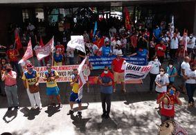 Manifestantes protestam contra nova reforma administrativa em JP